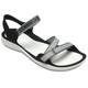 Crocs Swiftwater Webbing - Sandales Femme - gris/noir